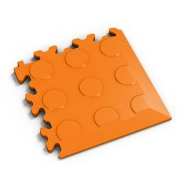 Fortelock Oranžový plastový vinylový rohový nájezd 2046 (penízky) - 14 x 14 x 0,7 cm