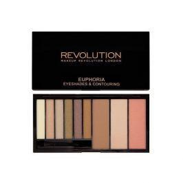 Makeup Revolution Paletka očních stínů a konturovací sada Euphoria (Eye Shades & Contouring) 18 g (Odstín Bronzed Euph