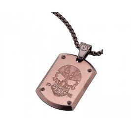 Police Bronzový pánský náhrdelník Powler PJ25607PSEBR-S