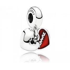 Pandora Stříbrný přívěsek Disney Mickey a Minnie 791441NCK stříbro 925/1000