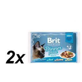 Brit Premium Cat Delicate Fillets in Gravy Dinner Plate 2x340g