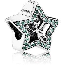 Pandora Stříbrný přívěsek Disney Hvězda Víly Zvonilky 791920NPG stříbro 925/1000