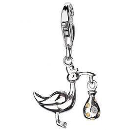 Hot Diamonds Přívěsek Čáp s miminkem Love Luck Happiness DT146 stříbro 925/1000