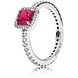 Pandora Třpytivý stříbrný prsten s červeným krystalem 190947SRU (Obvod 58 mm) stříbro 925/1000