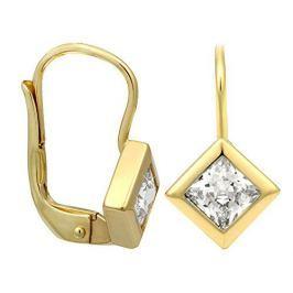 Brilio Zlaté náušnice s krystalem 236 001 00977 - 1,75 g zlato žluté 585/1000