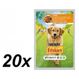 Friskies VitaFit ADULT s kuřetem a mrkví ve šťávě 20 x 100g