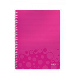 Blok na psaní Leitz WOW A4 linkovaný metalicky růžový
