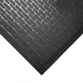 Černá gumová protiskluzová průmyslová rohož - 85 x 75 x 0,6 cm