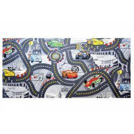 Dětský koberec The Wolrd of Cars 97 šedý 140x200 cm