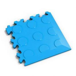 Fortelock Modrý plastový vinylový rohový nájezd 2046 (penízky) - 14 x 14 x 0,7 cm
