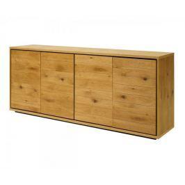 Danish Style Odkládací skříň s 4 dveřmi Dayton, 198 cm, divoký dub