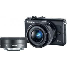 Canon EOS M100 + 15-45 mm + 22 mm Black