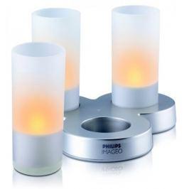 Philips Svítidlo Glass CandleLights oranžová (69108/60/PH)