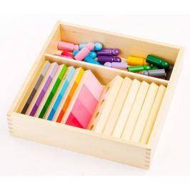 Montessori pomůcky Stínování barev – figurky s destičkami