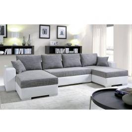 Rohová sedačka KENZO 1, šedá/bílá ekokůže