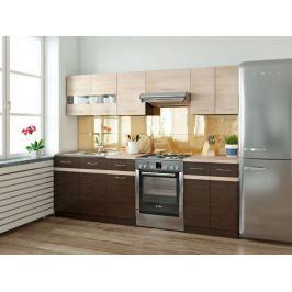 Kuchyně JUNONA LINE 180/240 cm, wenge/dub sonoma
