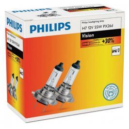 Philips Vision H7, 12 V, 55 W, 2 ks