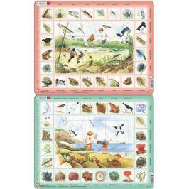 LARSEN Puzzle set Život u rybníka a Život u moře MAXI