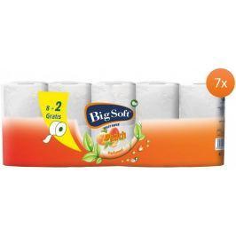 Big Soft Broskev toaletní papír 2 vrstvý 7 x 10 rolí