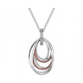 Hot Diamonds Stříbrný náhrdelník s diamantem Chandelier Vintage Rose Gold DP652 stříbro 925/1000