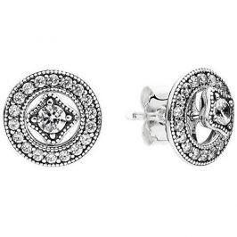 Pandora Náušnice s krystaly 2v1 290721CZ stříbro 925/1000
