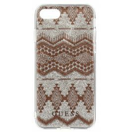 Guess GUHCP7LTGTA Ethnic Chic Tribal 3D TPU pouzdro Taupe pro iPhone 7 Plus