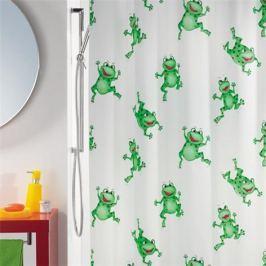 Spirella Sprchový závěs FROGTIME green 180x200 cm
