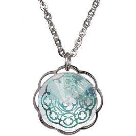 Preciosa Zelený náhrdelník Galia s čirým krystalem 7233 66