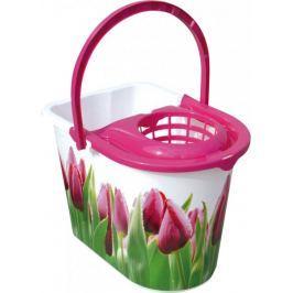 York Vědro Tulip 14 l s růžovou odstředivkou