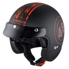 Held přilba BLACK BOB s kšiltem vel.L (59-60cm), černá/červená