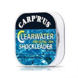 Carp ´R´ Us Clearwater - návazcový fluorocarbon 20 m crystal 15lb