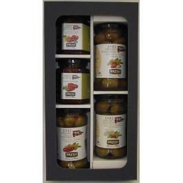 Deluxe kazeta s řeckými plněnými olivami a sušenými rajčaty