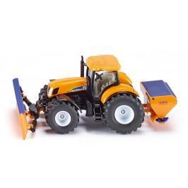 SIKU Super - Traktor s přední radlicí a sypačem soli, 1:50