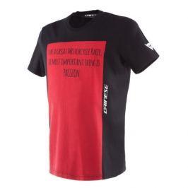 Dainese pánské triko RACER-PASSION vel.M černá/červená