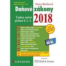 Marková Hana: Daňové zákony 2018 - Úplná znění k 1. 1. 2018