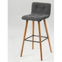 Design Scandinavia Barová židle Fredy (SET 2 ks), šedá