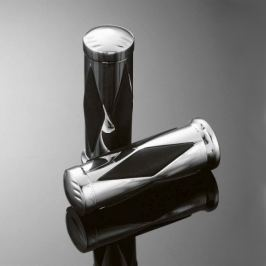 Highway-Hawk gripy 25mm  DIAMOND, leštěný chrom (2ks)