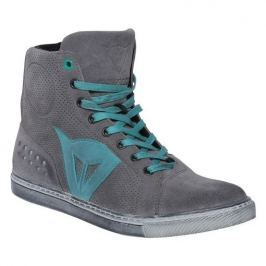 Dainese kotníkové dámské boty STREET BIKER LADY AIR vel.39 šedá/modrá, kůže (pár)