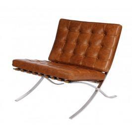 Mørtens Furniture Luxusní křeslo Xtreme pravá kůže vintage, světle hnědá