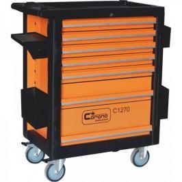 CORONA Montážní vozík na nářadí 7 zásuvek vybavený 253 ks