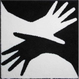 GRUND Česká koupelnová předložka, BODY 90x90 cm, bílá