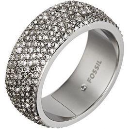 Fossil Třpytivý ocelový prsten JF02150040 (Obvod 59 mm)