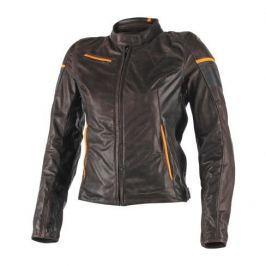 Dainese dámská bunda MICHELLE LADY vel.40 hnědá/černá/oranžová, kůže