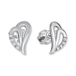 Brilio Náušnice srdce z bílého zlata 239 001 00738 07 - 1,35 g zlato bílé 585/1000