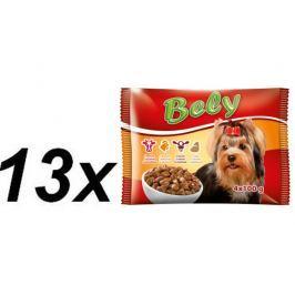 Akinu Bely kapsičky pro psy ve šťávě MIX 13 x ( 4 x 100g)