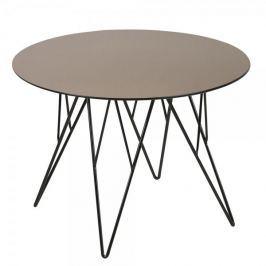 Design Scandinavia Konferenční stolek Stark, 55 cm, sklo bronz