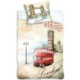Jerry Fabrics povlečení London Bus 140x200 70x90