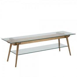 Design Scandinavia TV stolek skleněný Xena, 160 cm