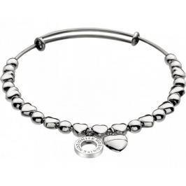 Hot Diamonds Ocelový náramek Emozioni Silver Heart Bangle DC094