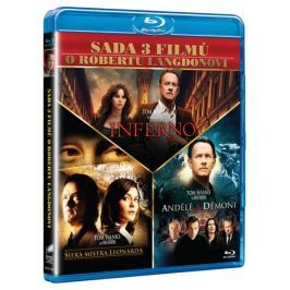 3x Dan Brown: Inferno, Andělé a démoni, Šifra mistra Leonarda (3BD)   - DVD
